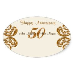 50th Wedding Anniversary Gift Tags : Photo and Personalized 50th Anniversary Place Cards personalized with ...