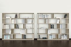 Buy online Brera By emmebi, open double-sided wooden bookcase design Lievore Altherr Molina Wooden Bookcase, Bookcase Storage, Shelving, Library Shelves, Bookshelves, Home Office Design, House Design, Wardrobe Cabinets, Home Collections