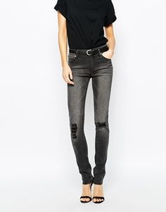 Cheap Monday Tight Skinny Jeans With Distressing In Bleach. Shopping link --- http://rstyle.me/n/xnhd48qzw