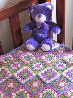 Crochet baby Afghan blanket  Granny Squares by DivineCre8ns