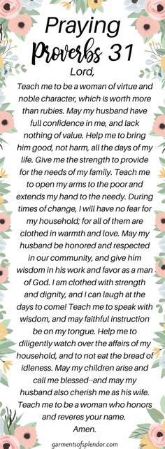 Book Of Proverbs, Proverbs Woman, Proverbs Bible Quotes, Prayer Quotes, Bible Verses Quotes, Prayer Ideas, Virtuous Woman Quotes, Powerful Scriptures, Biblical Womanhood
