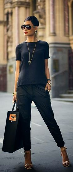 Luv to Look | Curating Fashion & Style: Street styles edgy black Micah Gianneli
