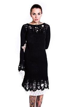 Lestat Knit Dress [B] I need more hobo sweaters. Gothic Outfits, Gothic Dress, Knit Dress, Lace Dress, Killstar Clothing, Mid Length Dresses, Dark Fashion, Alternative Fashion, Playing Dress Up