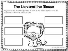 The Lion and the Mouse Interactive Notebook ~ Reading