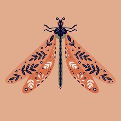 Dragonfly Illustration, Digital Illustration, Bug Art, Dragonfly Art, Insect Art, Beauty Art, Painted Rocks, Art Inspo, Design Art
