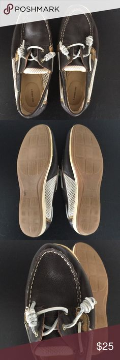 Boat Shoes by Lands end Nearly ever worn—like brand new Lands' End Shoes Flats & Loafers