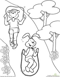 physical exercise coloring pages - photo#27