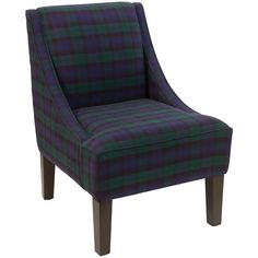 Skyline Furniture Blackwatch Blackwatch Pine/Polyurethane/Polyester Slipper Accent Chair