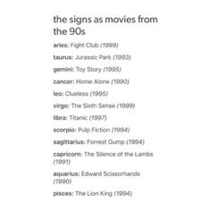 The Signs as movies from 90s