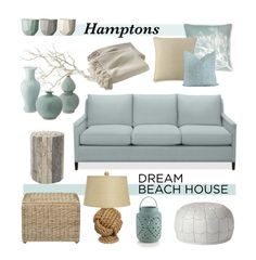 Hamptons Dream Beach House by Coastal Style Blog #moodboardsandcolourtrends #hamptonsstyle