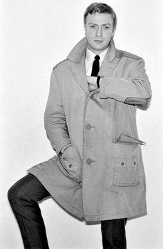 Michael Caine as Alfie – Leather-Accented Raincoat