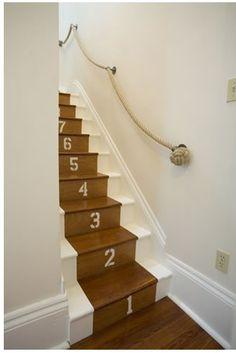 Numbered, nautical stairs