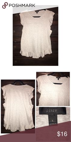 J. Crew Cotton Top Pre•loved J.Crew Cotton Top • Size L • Made of 100% Cotton • Excellent condition J. Crew Tops