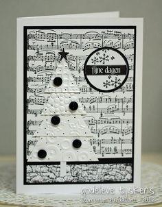 black and white card:  StampingMathilda