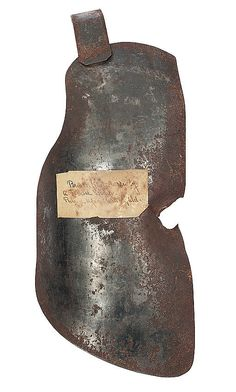 Civil War Body Armor Used in Battle The missing section on the right side of this sheet-iron breastplate shows the deadly effect of an artillery shell. The body armor was pierced by a piece of shrapnel—and the Union soldier wearing it probably killed—during the battle of Malvern Hill on July 1, 1862. At sunrise the following morning this torn breastplate was found on the battlefield. Confederate soldiers rarely, if ever, wore protective breastplates, but their Union counterparts sometimes…