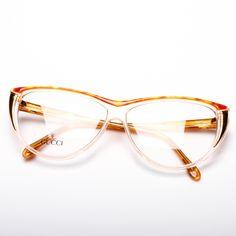 Gucci Eyewear, Gucci Sunglasses, Gucci Frames, Eyeglasses Frames For Women, Cute Frames, Fashion Eye Glasses, Old Hollywood Stars, Vintage Gucci, Vintage Frames