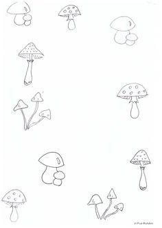 najdi dvě stejné houby Connect The Dots