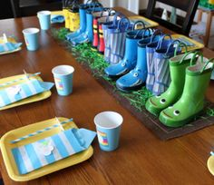 Rain Boot Centerpiece from Inspired by Familia