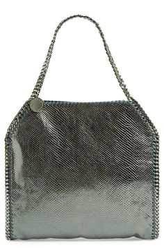 Stella McCartney 'Falabella' Iguana Textured Tote #Tote #Handbag #StellaMcCartney