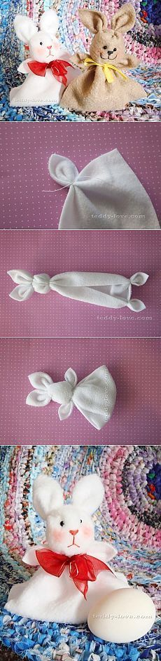 23 Clever DIY Christmas Decoration Ideas By Crafty Panda Easter Crafts, Felt Crafts, Crafts To Make, Craft Projects, Sewing Projects, Crafts For Kids, Arts And Crafts, Towel Animals, Towel Crafts