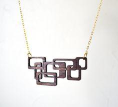 Laser Cut Walnut necklace