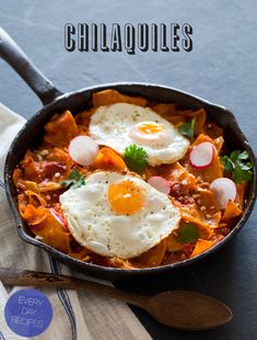 Breakfast in Mexico... dont mind if I do!! check out this new recipe from SpoonForkBacon!!! CHILAQUILES!! pretty much breakfast nachos!! check it...NOW lol