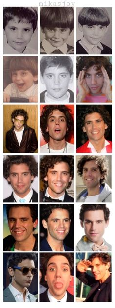 The evolution of MIKA. My gosh,what a cutie!