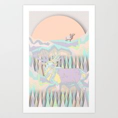 Buy Deer Forest by Dogooder as a high quality Art Print. Worldwide shipping available at Society6.com. Just one of millions of products available.