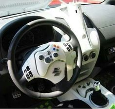 Never game and drive...but in case you ever need an Xbox controller, your car has one ready. #Controller #SteeringWheel #Xbox