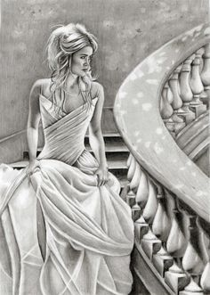 I realize this is a drawing, but it's so beautiful i want the dress (Castle Ball…
