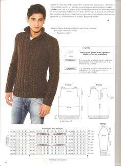 Revista Cisne Ideias De Trico Blusa Trico Masculina Sweaters