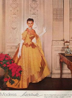 May Vogue 1954 modess made having a period look pretty