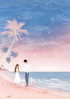 Digital art couple love 16 ideas for 2019 Cute Couple Drawings, Cute Couple Art, Anime Love Couple, Cute Drawings, Couple Illustration, Illustration Art, Aesthetic Art, Aesthetic Pictures, Stock Design