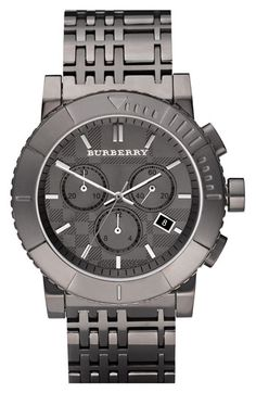 Burberry Round Chronograph Bracelet Watch
