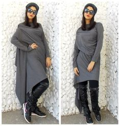 Now trending: Asymmetric Dress / Long Extravagant Dress/ Grey Asymmetric Tunic / Loose Asymmetric Tunic Dress TDK08 https://www.etsy.com/listing/175411771/asymmetric-dress-long-extravagant-dress?utm_campaign=crowdfire&utm_content=crowdfire&utm_medium=social&utm_source=pinterest