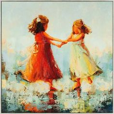 Circle of Two by Nesbit: 31 x 31 Framed Giclee Printed