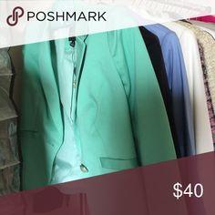 limited GREEN blazer brand new The Limited Jackets & Coats Blazers