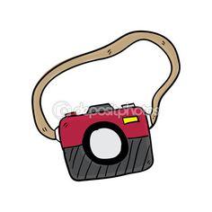 Kamera kézzel rajzolt vektoros illusztráció — Stock Illusztráció #73401397