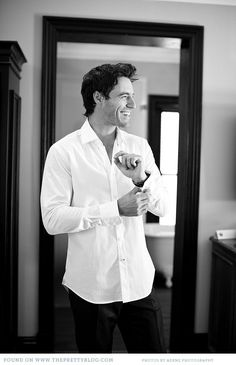 "Groom getting ready for the big day | Photo: Adene Photography...I like this...you always have a tone of ""prep"" pics for the bride, but it would be nice to see the other half of the morning!"