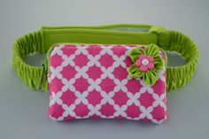 Insulin Pump Pack  Blooming flower in green by KoalaCouture