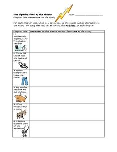 A four page packet for students to use while reading the book,