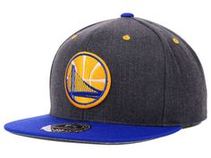 Golden State Warriors Mitchell and Ness NBA Current Logo Cork Fitted Hat Hats