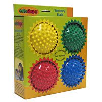 Sensory Balls - Set of 4 and nearly 7,000 other quality toys at Fat Brain Toys. Children love soft, stimulating, unique textured sensory balls.