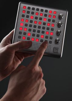 If HAL 9000 mated with R2-D2 and their electronic offspring was tutored by Kraftwerk it would probably end up something like the Bliptronic 5000 LED Synthesizer.    At once a minimalist musical plaything and a hardcore old-skool synthesizer, the Bliptronic defies categorization as it belts out 8-Bit style style tunes from its grid of glowing buttons.