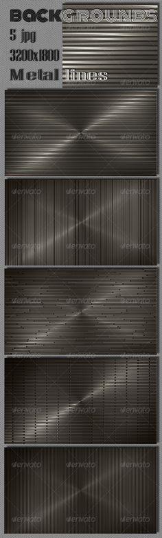 Web Dark Metal Lines Backgrounds