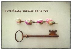 Everything carries me to you... 4x6 postcard with envelope, romantic photo and quote from a love poem by Pablo Neruda