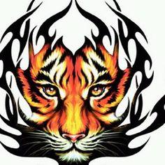 Flaming tiger