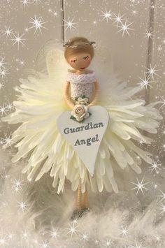 Fairy Crafts, Angel Crafts, Christmas Ornaments, Christmas Crafts, Merry Christmas, Beaded Angels, Flower Fairies, Fairy Dolls, Felt Dolls