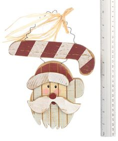 FREE IMAGES OF PRIMITIVE SANTA | Primitive Wooden Santa with Candy Cane Plaque - Primitive Sale - Sales