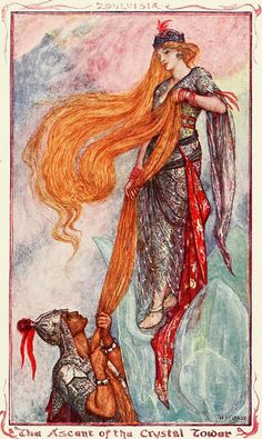 "Image from ""The olive fairy book"" by Andrew Lang, (1907) illustration Henry Justice Ford"